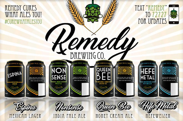 Remedy Brewing Co. of Sioux Falls, South Dakota is a brewery that serves craft beer in the greater Sioux Falls area and sells their mass-produced canned libations all over South Dakota.