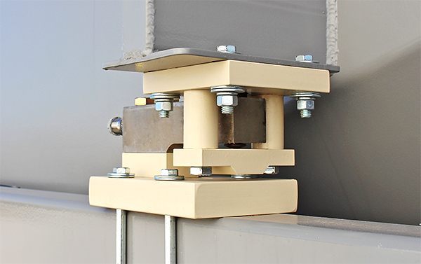 Cardinal's THBC load cell kits are utilized to weigh Cemco's ground level hoppers.