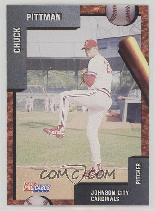 Chuck's minor league trading card.