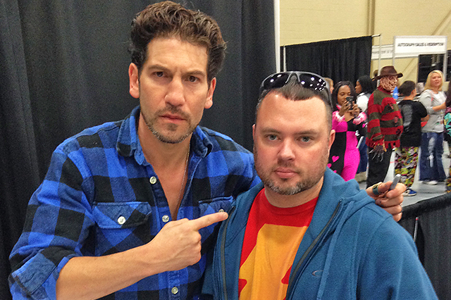 """Josh attended some comic book conventions in Tulsa and got to meet John Bernthal, who played the character Shane in the """"Walking Dead."""""""