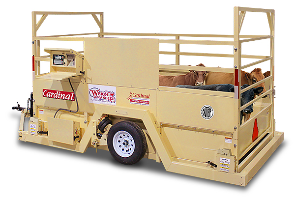 Cardinal Scale's Weight Wrangler LSM Series Mobile Livestock Scales