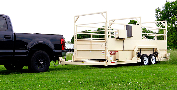 Weight Wrangler group livestock scales provide self-contained weighing that will work anywhere with up to a 5% grade.
