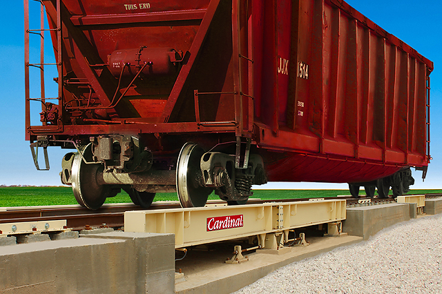 Cardinal Scale's LPRA series low-profile railroad track scales