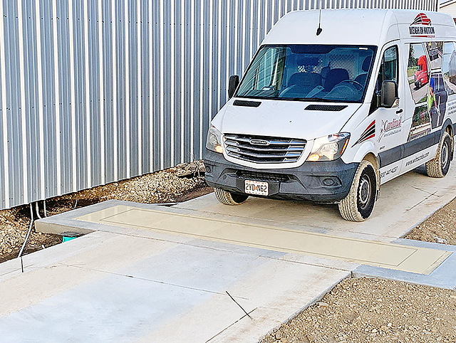. Ideal for busy harvest season, this weigh-in-motion truck scale offers a small footprint for easy, in-ground installation, and the ability to read and record both individual axle and gross weights without stopping the vehicle.