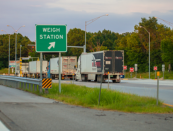 Trucking companies and delivery fleets should check vehicle weights on their own scales before heading into commercial vehicle highway weigh stations.