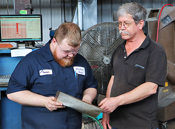 Troy Yeager's Second Shift crew is tight-knit and keep production on par with load cell demand.