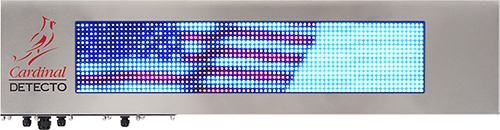 Full-color RGB graphics LED readouts with 1,280 RGB high-intensity LEDs for maximum visibility in all lighting conditions.